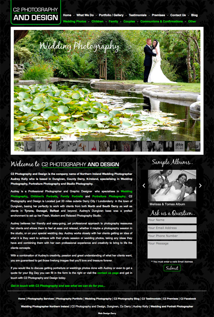 c2-photography-design-website, web design derry, website design, designer derry, photography derry, website designer, derry