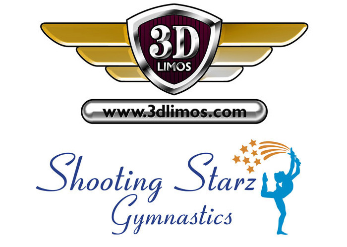 logo design | logo design derry | branding | 3d limos logo | shooting starz logo