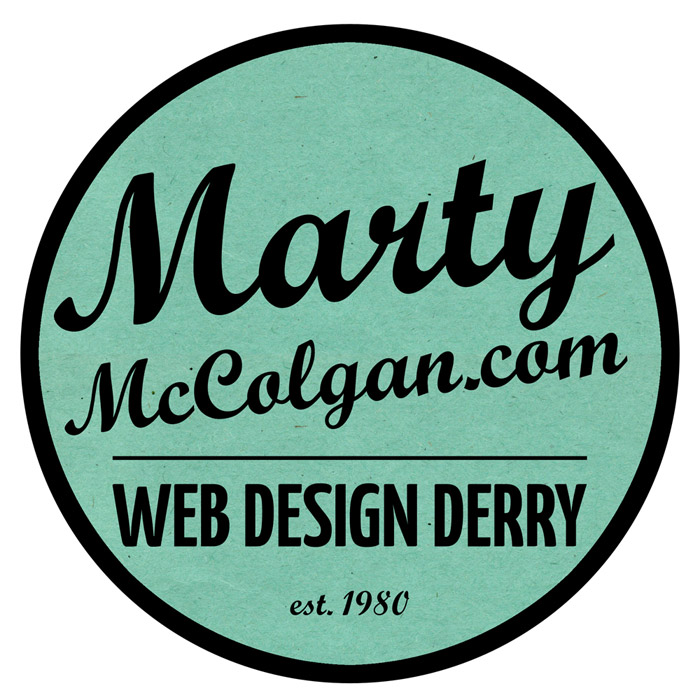 web design derry logo | marty mccolgan logo | logo design | derry | design