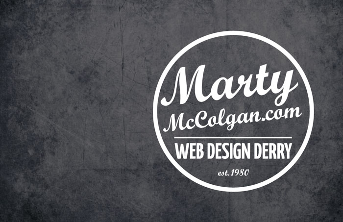 business card design derry | web design derry | marty mccolgan | business cards | derry