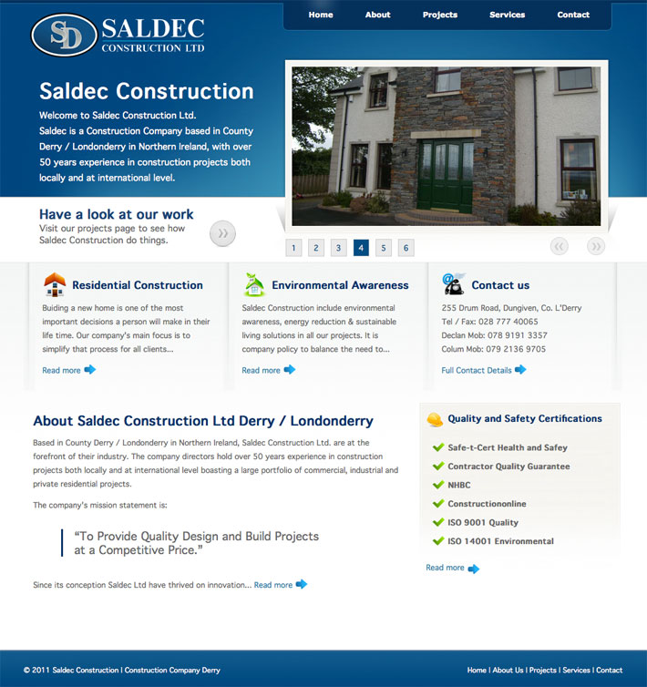 saldec construction | web design derry | web design northern ireland | web designer | website design | marty mccolgan