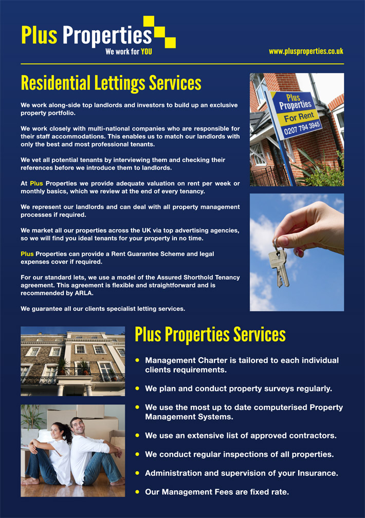 Plus Properties London Brochure Design | graphic design derry | marty mccolgan | graphic designer | derry | london | property brochure