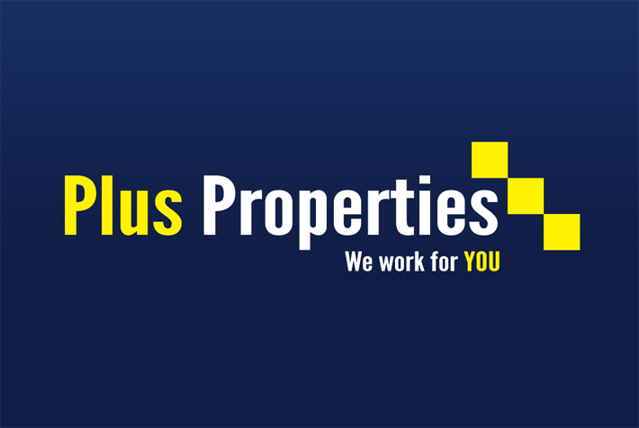 plus properties logo |  logo design london | london | logo design | graphic design | derry | marty mccolgan