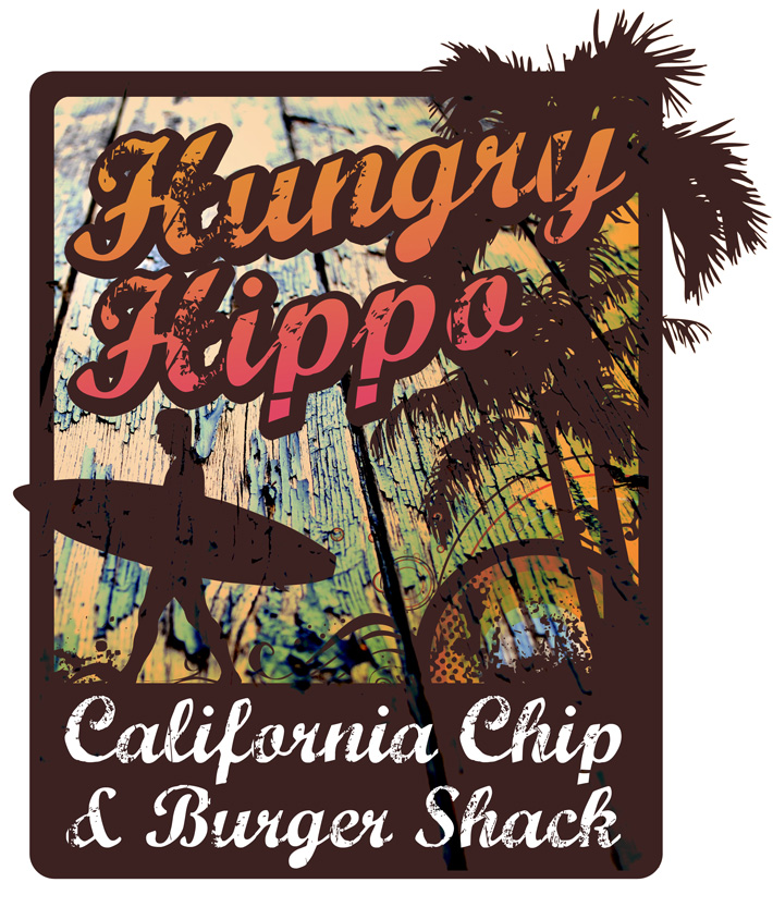 surf shack logo design | surf logo design | hungry hippo california burger shack | surf shack logo | surfing | logo design | canada | california | surfers | graphic design | derry | belfast | northern ireland | marty mccolgan