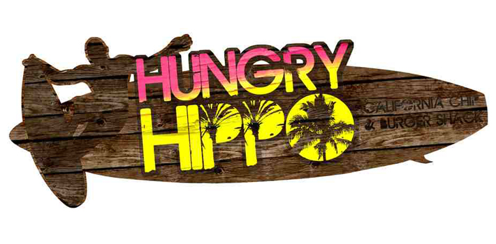 hungry hippo california burger shack, hungry-hippo-surf-logo, hungry hippo logo | surf logo | surf shack logo | graphic designer | marty mccolgan | derry | ireland | logo design