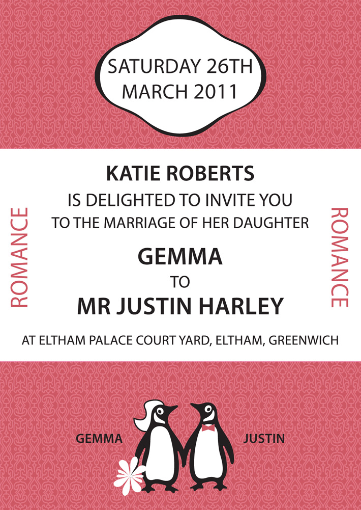 penguin-books-wedding-invitation | Penguin Books | Wedding Invitations | unique wedding invitations | quirky wedding invitations | unusual wedding invitations | bespoke wedding invitations | cool wedding invitations | different wedding invitations | beautiful wedding invitations | derry | belfast | northern ireland