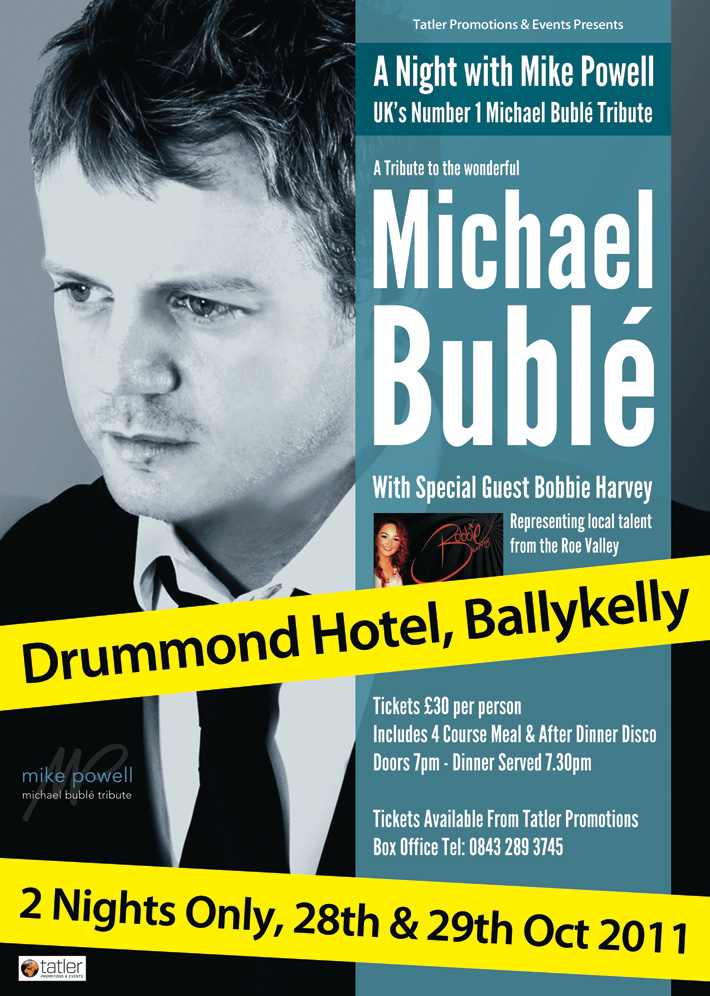 Michael-Buble-Tribute-Act-Poster | poster design | michael buble poster | graphic design belfast | graphic design derry | graphic design | poster designer | marty mccolgan | northern ireland