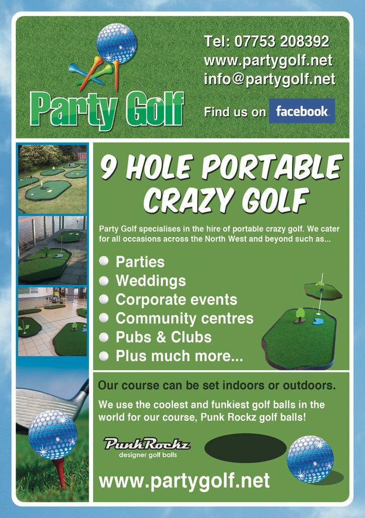 party-golf-flyer-derry | graphic design derry | flyer design derry | golf poster design | marty mccolgan
