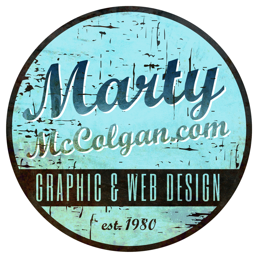 Marty McColgan Alternative Retro Logo Design Derry | Northern Ireland | Vintage Logo Design