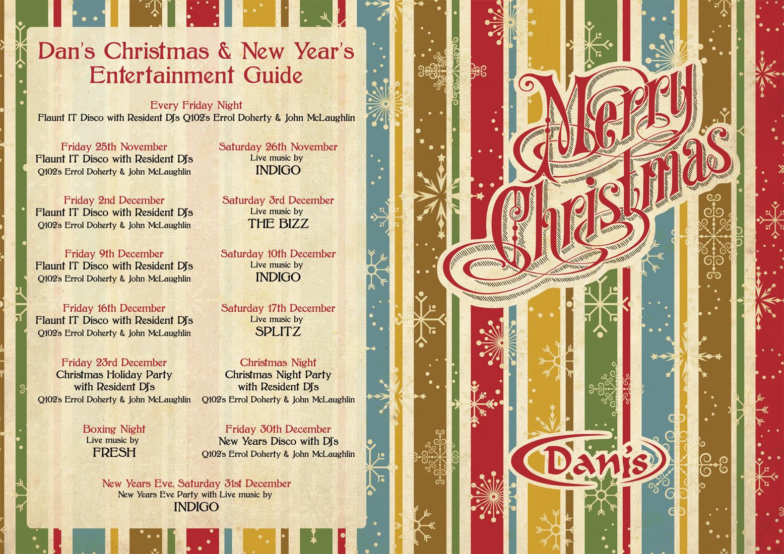 Retro Menu Design | Retro Christmas Design | Vintage Retro Graphic