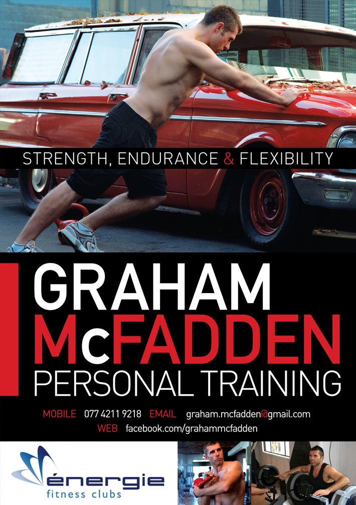 Graham McFadden Personal Training | Personal Trainer Flyer design | a5 flyer design | graphic design derry | flyer design derry
