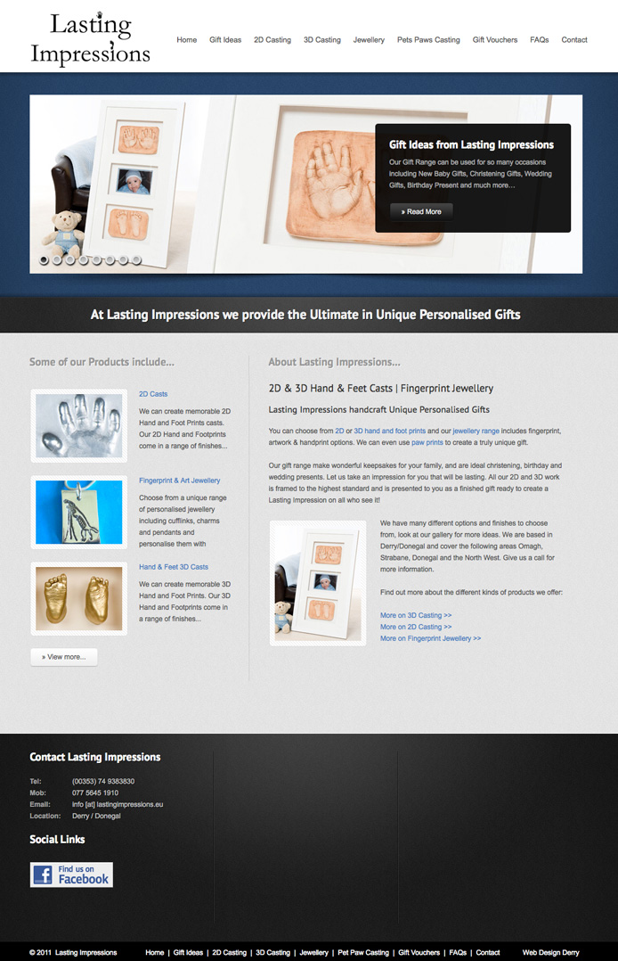 lasting-impressions-website-design | Lasting Impressions website design | web design donegal | website designer | marty mccolgan