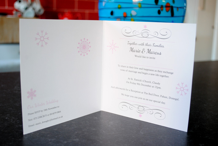 This is the result of their Winter Wedding Invitations