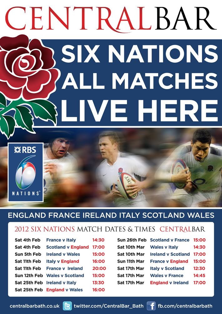 Rugby Six Nations Poster Design | 6 nations poster | six nations poster design | rugby poster
