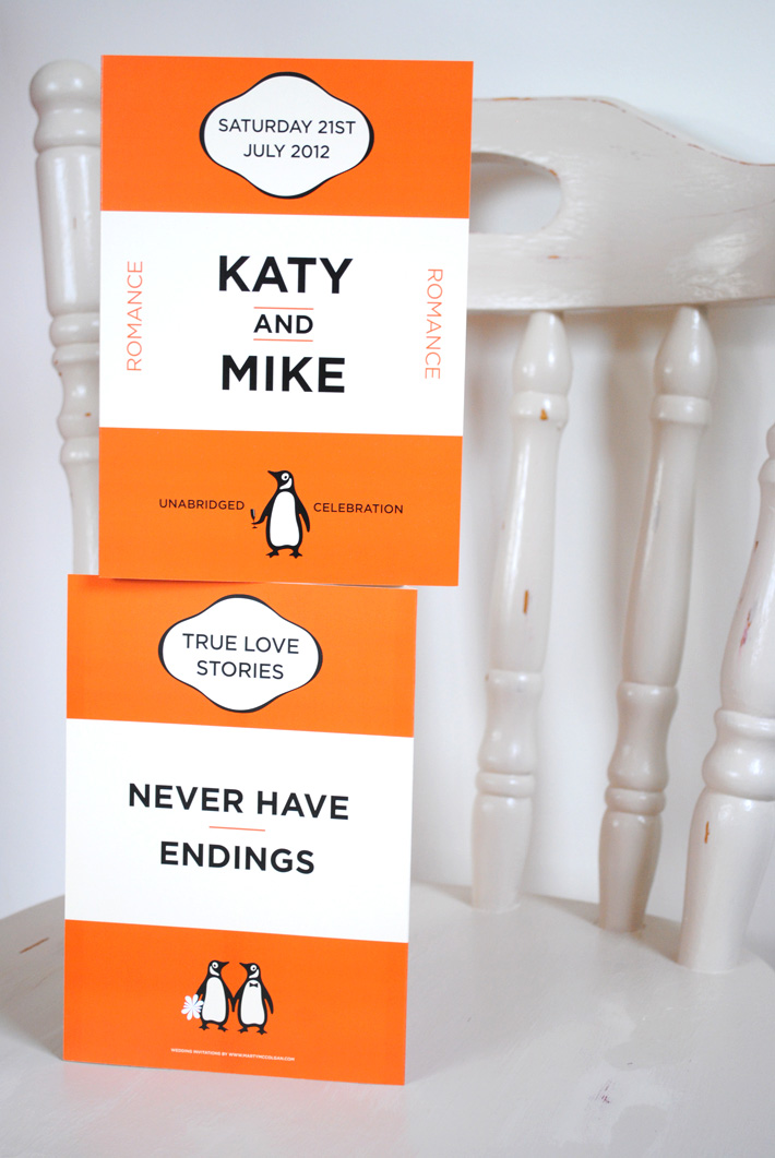 book lover wedding invitation | penguin books wedding invitations