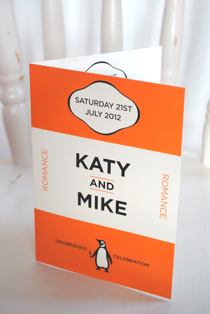 book lover wedding invitation | penguin books wedding invitations | book weddings