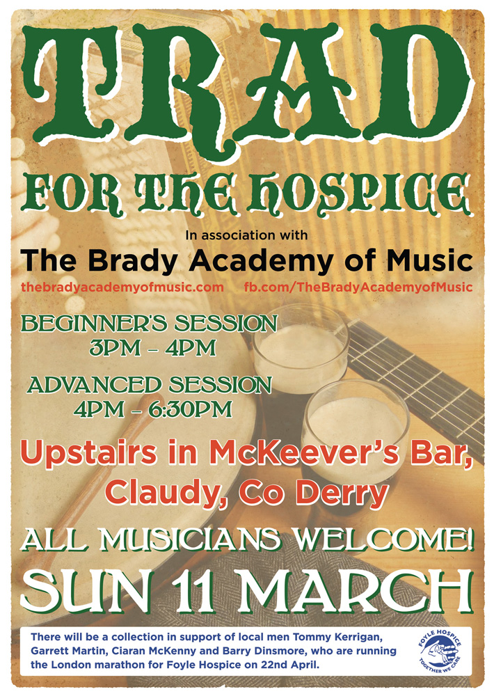 traditional irish music poster design | poster design northern ireland