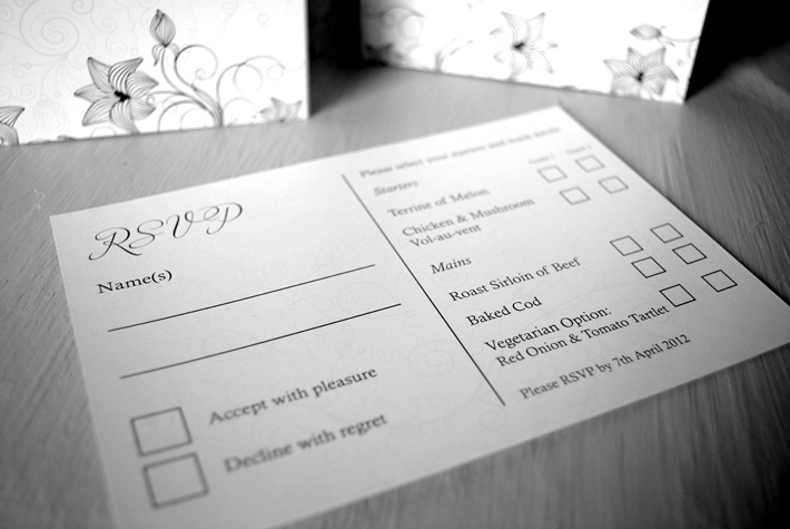 wedding invitation rsvp card designs northern ireland