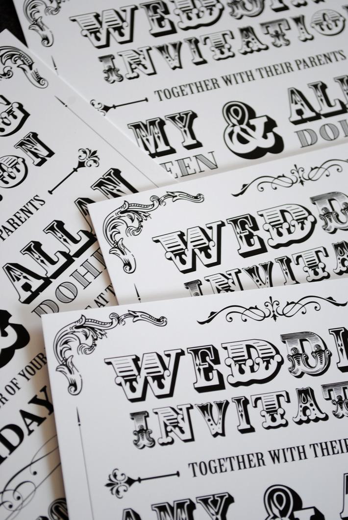 Vintage wedding invitations black and white Happy wedding – Black and White Vintage Wedding Invitations