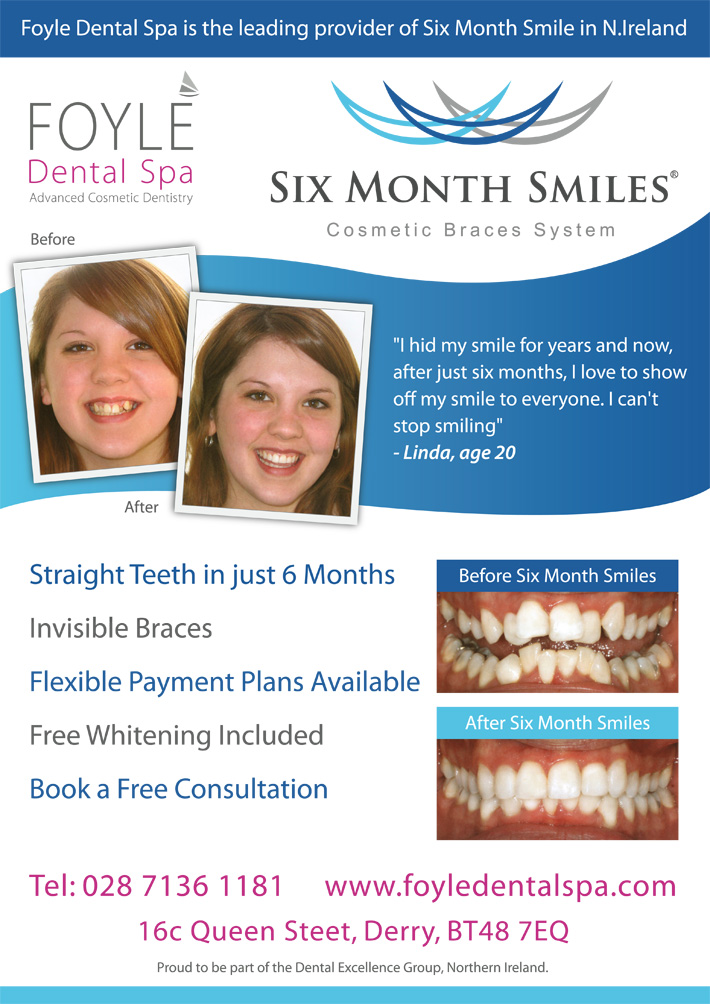 foyle dental spa | dental poster design | poster design northern-ireland | dental posters