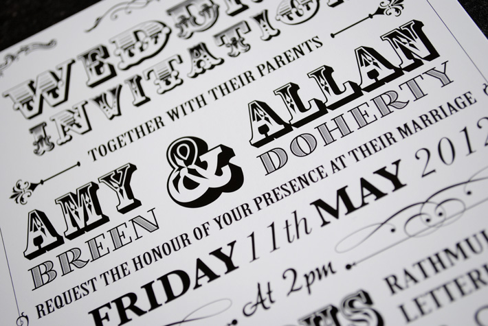 poster style wedding invitation