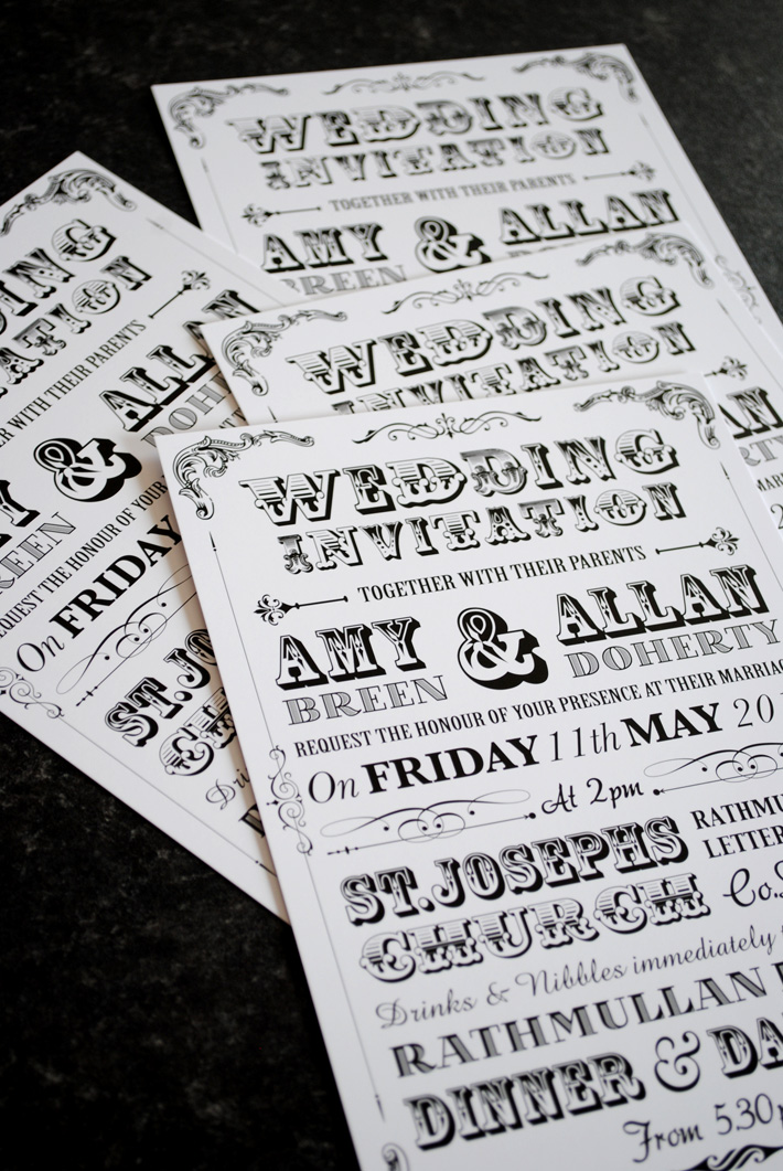 vintage poster style wedding invitations uk and ireland