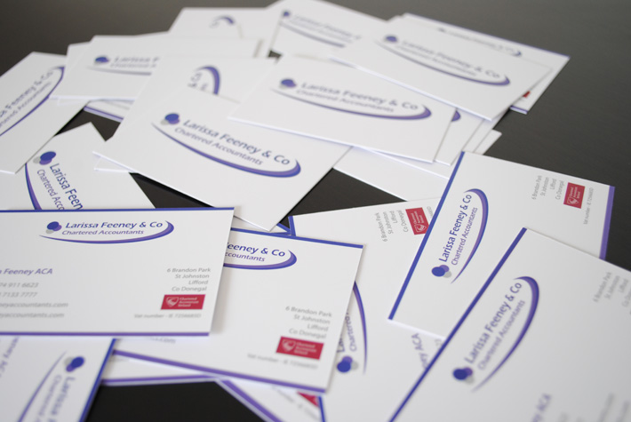 business cards design print derry belfast