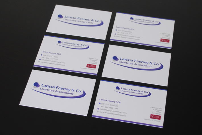 business cards design print derry
