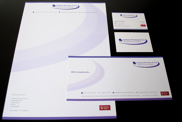 business stationery design print northern ireland