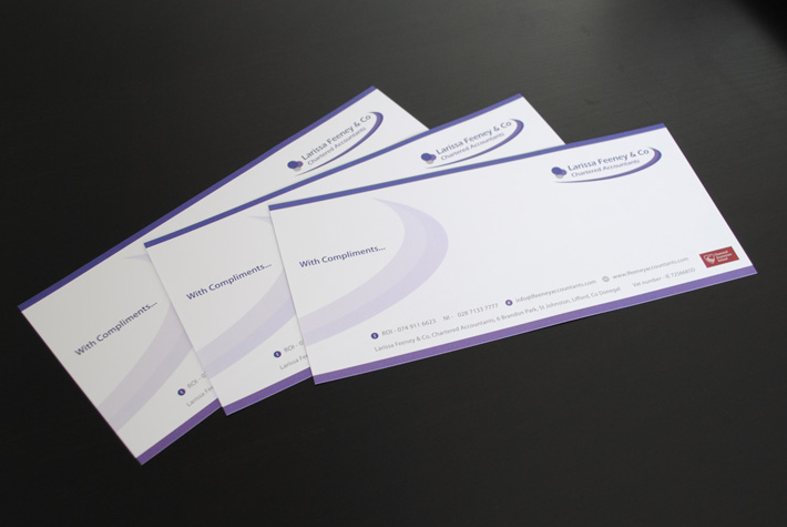 compliment slips business stationery northern ireland