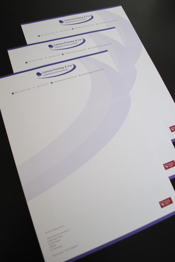 letterhead design and print northern ireland