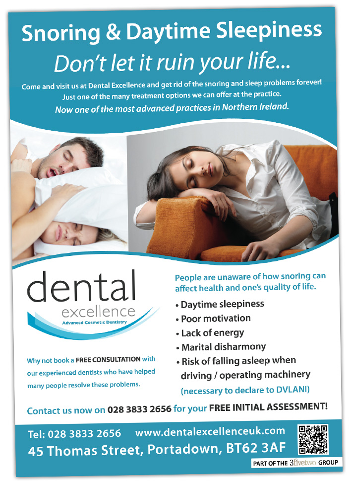 dental practice poster design northern ireland | dental excellence portadown