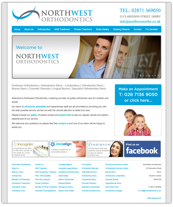 orthodontist website design derry | dental web design | web design northern ireland