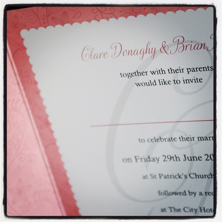wedding invitation design belfast