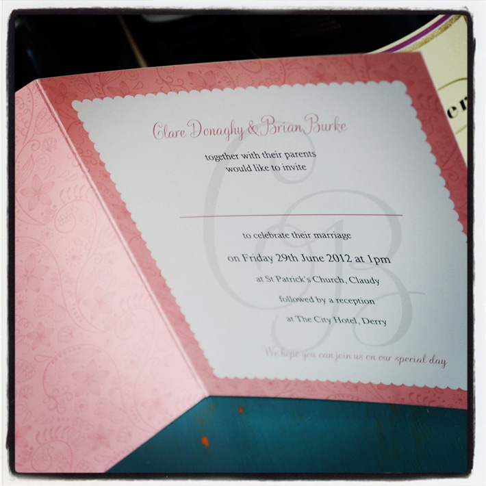 wedding invitation design derry londonderry