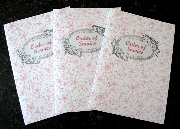 wedding mass booklets | wedding order of service booklets