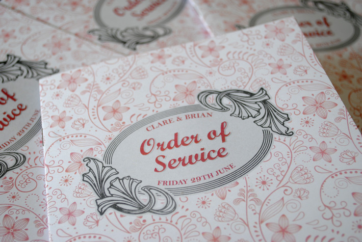 wedding mass order of service booklets