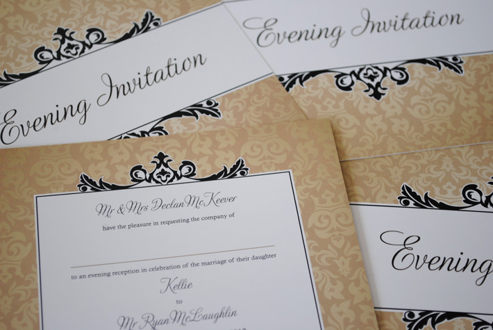 elegant wedding invitations northern ireland