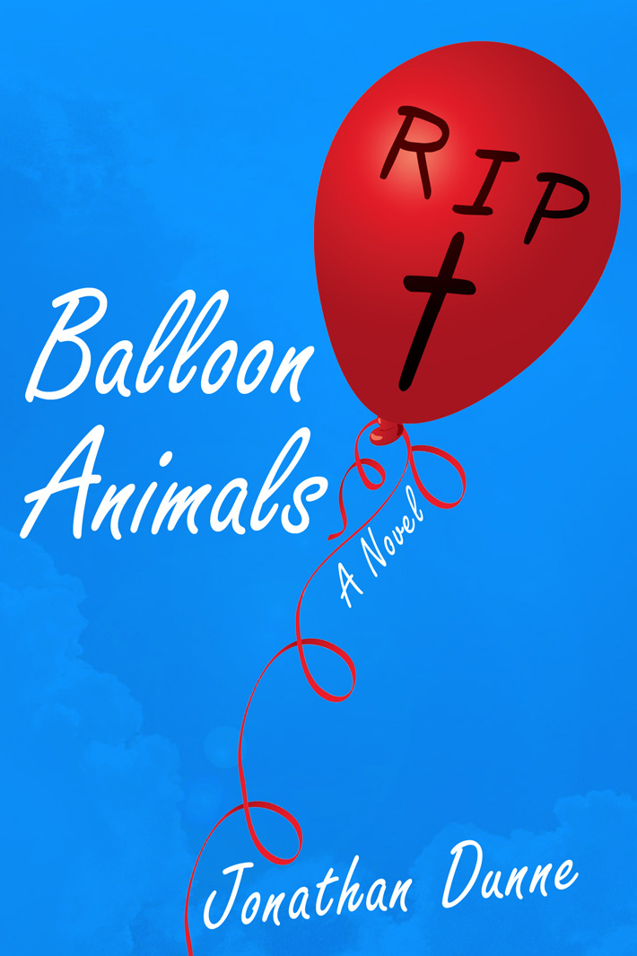 Jonathan Dunne balloon animals | book cover design ireland | book cover graphic designer