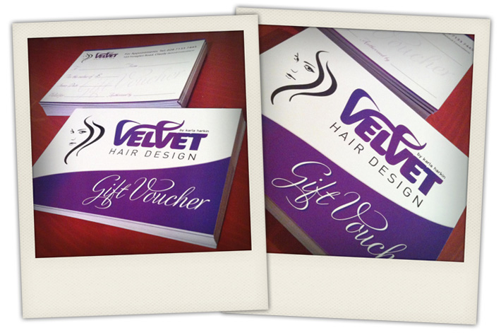 gift vouchers design and printing | northern ireland graphic design and print