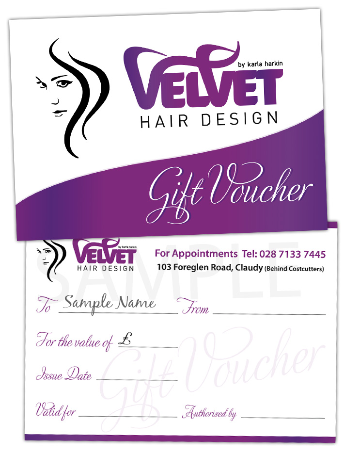 gift vouchers graphic design northern ireland | gift voucher printing