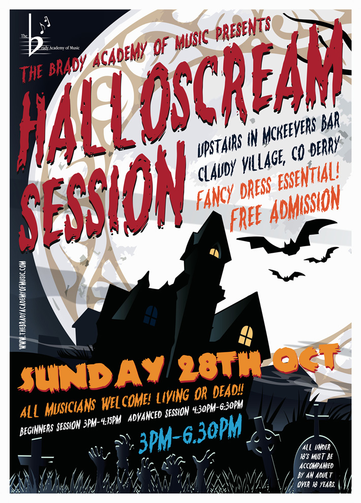 irish music session halloween poster design | marty mccolgan