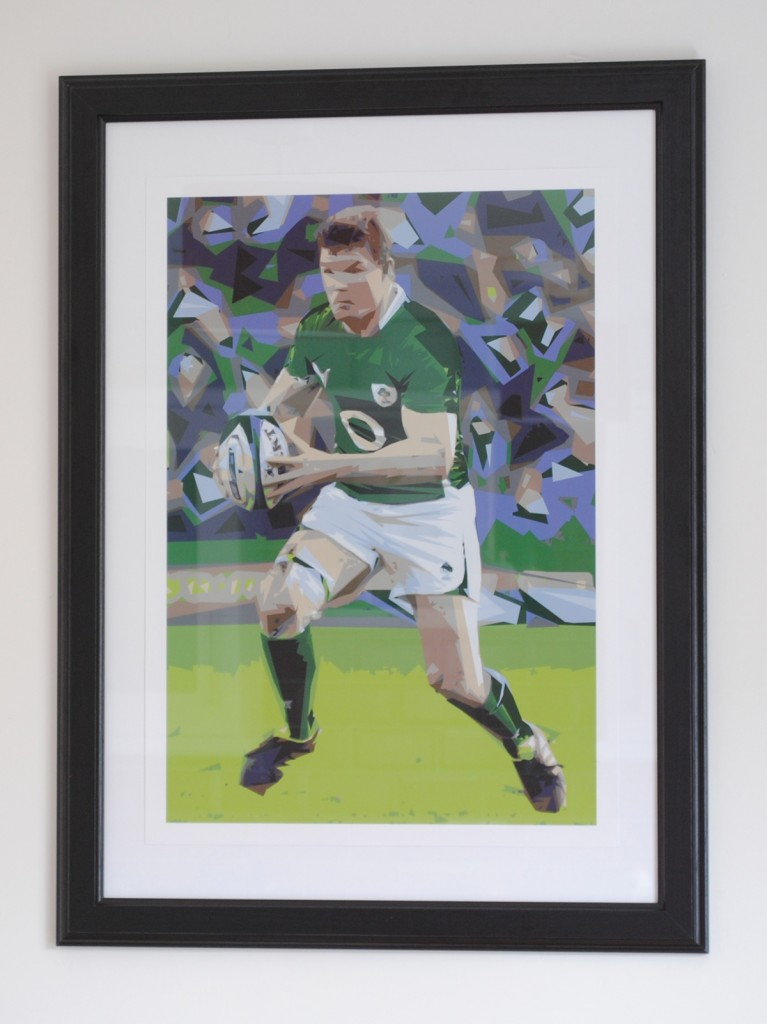 Irish Rugby Art | Irish Rugby Poster Print | Ireland Rugby Art | Brian O'Driscoll Poster