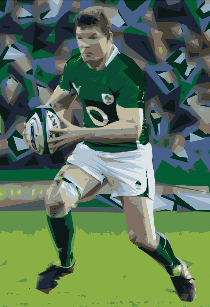 Irish Rugby Poster - Ireland Rugby Poster - Brian O'Driscoll Poster