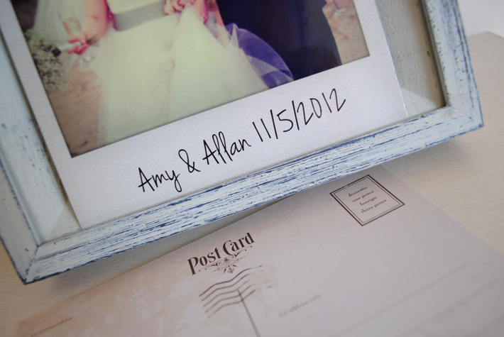 personalised Vintage Polaroid photo Thank You Card