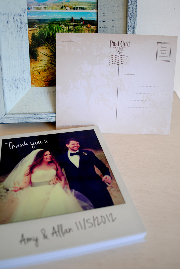 wedding thank you card polaroid