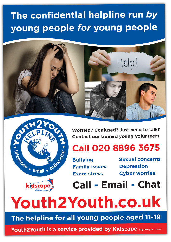 poster design | youth2youth kidscape | charity poster design | marty mccolgan