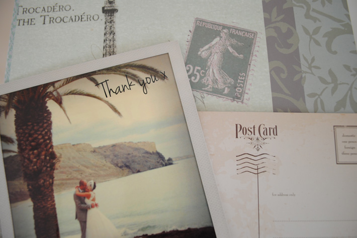 polaroid theme wedding cards
