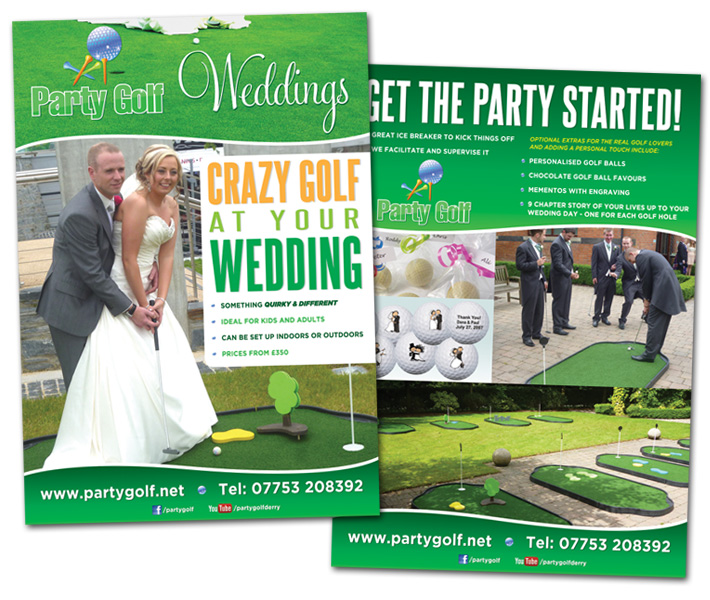 a5 flyer design and print party golf derry