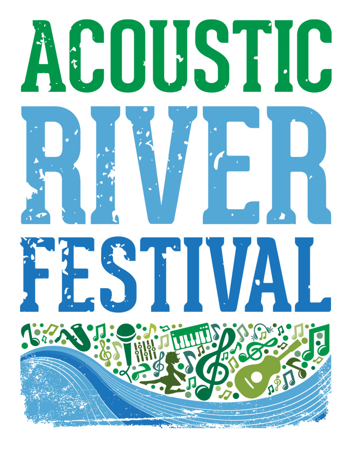 acoustic river festival logo design
